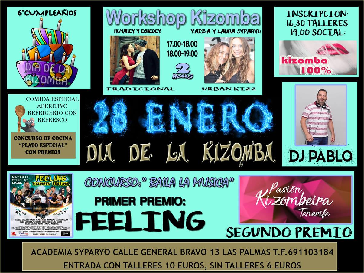 6 cumplea os del d a de la kizomba domingo 28 enero - Ofertas canarias enero ...